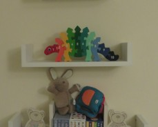 3 shelves on wall