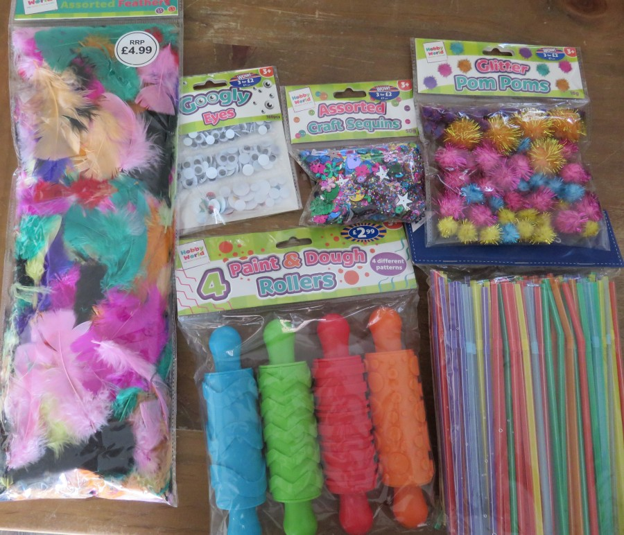 collection of crafts materials
