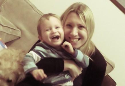 mum and child laughing