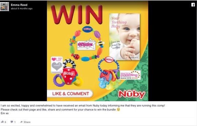 nuby competition
